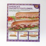 サブウェイ 広告 America's Favorite Footlongs