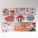 ヴィンテージ広告マガジン切抜き  ピザハット 広告 Stuffed Crust $12.99