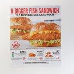 ヴィンテージ広告マガジン切抜き  アービーズ 広告 Fish Sandwich