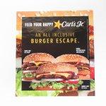 ヴィンテージ広告マガジン切抜き  カールズジュニア 広告 Burger Escape A