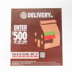ヴィンテージ広告マガジン切抜き  バーガーキング 広告 Delivery $500
