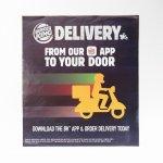 ヴィンテージ広告マガジン切抜き  バーガーキング 広告 Delivery バイク