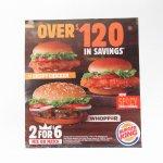 ヴィンテージ広告マガジン切抜き  バーガーキング 広告 $120 背景茶色