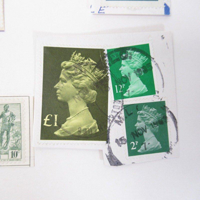 紙モノ雑貨 ヴィンテージ 外国切手  30枚アソート 緑【画像13】