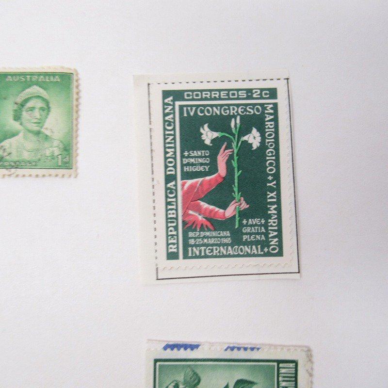 紙モノ雑貨 ヴィンテージ 外国切手  30枚アソート 緑【画像7】