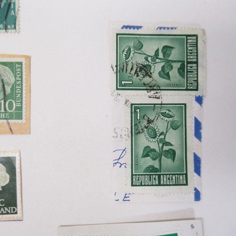 紙モノ雑貨 ヴィンテージ 外国切手  30枚アソート 緑【画像8】