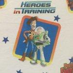 キャラクター  ヴィンテージシーツ トイストーリー Heroes in Training フラット