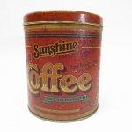 その他  キャニスター 1977年 ブリキ缶 Sunshine COFFEE
