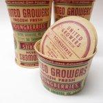 パッケージ&パッケージに味のある雑貨&チーズボックスなど  紙もの雑貨 1950年代 ヤングベリーズ 紙製コンテイナー 紙製蓋付