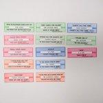 チケット、スコアパッドなどの紙物・紙モノ雑貨  紙モノ ジュークボックス用 ラベル13枚セット A