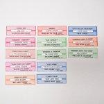 チケット、スコアパッドなどの紙物・紙モノ雑貨  紙モノ ジュークボックス用 ラベル13枚セット B