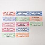 チケット、スコアパッドなどの紙物・紙モノ雑貨  紙モノ ジュークボックス用 ラベル13枚セット C