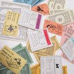 チケット、スコアパッドなどの紙物・紙モノ雑貨  紙モノ 1960年代 モノポリー紙物 もりもりアソート B