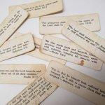 チケット、スコアパッドなどの紙物・紙モノ雑貨  紙モノ 1940~60年代 聖書の言葉 タグ10枚セット A