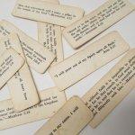 チケット、スコアパッドなどの紙物・紙モノ雑貨  紙モノ 1940~60年代 聖書の言葉 タグ10枚セット B