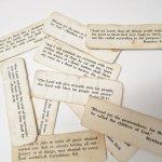 チケット、スコアパッドなどの紙物・紙モノ雑貨  紙モノ 1940~60年代 聖書の言葉 タグ10枚セット D
