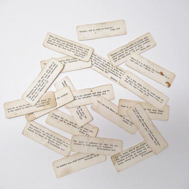 紙モノ 1940~60年代 聖書の言葉 タグ20枚セット A