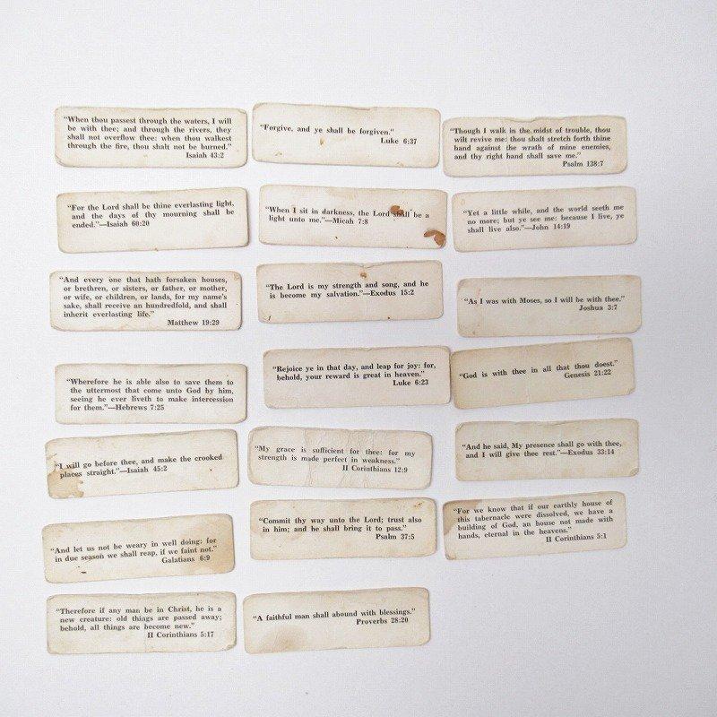紙モノ 1940~60年代 聖書の言葉 タグ20枚セット A【画像2】