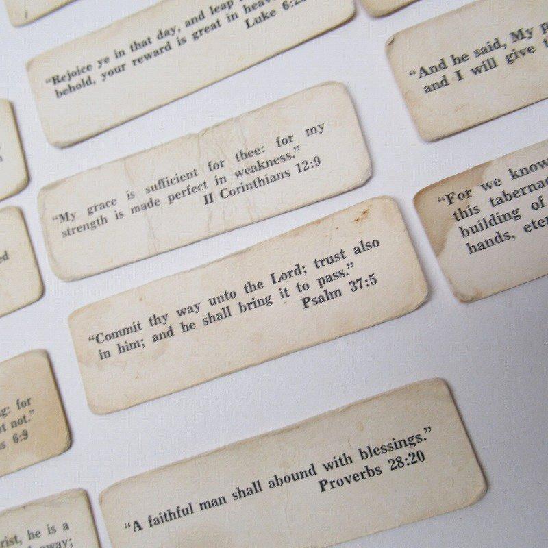 紙モノ 1940~60年代 聖書の言葉 タグ20枚セット A【画像5】