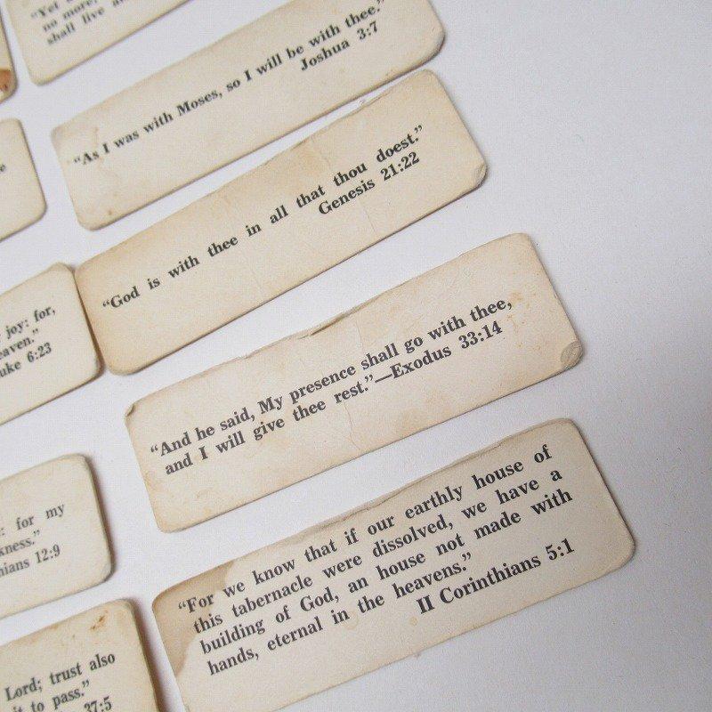 紙モノ 1940~60年代 聖書の言葉 タグ20枚セット A【画像6】