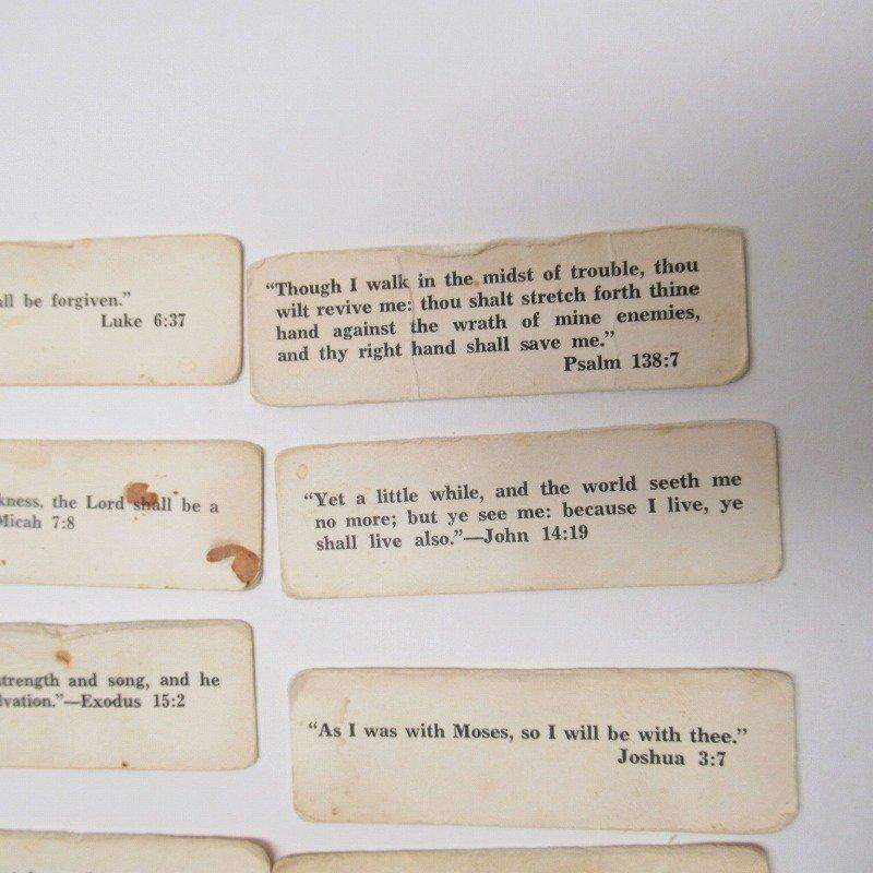 紙モノ 1940~60年代 聖書の言葉 タグ20枚セット A【画像7】