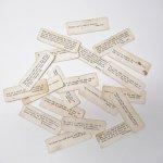 チケット、スコアパッドなどの紙物・紙モノ雑貨  紙モノ 1940~60年代 聖書の言葉 タグ20枚セット A