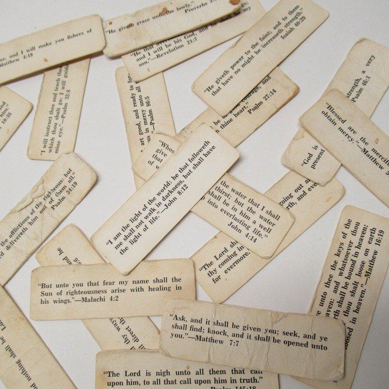 紙モノ 1940~60年代 聖書の言葉 タグ20枚セット C