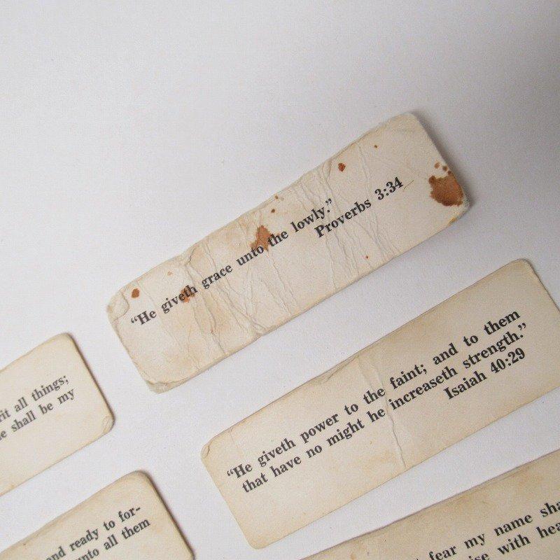 紙モノ 1940~60年代 聖書の言葉 タグ20枚セット C【画像4】
