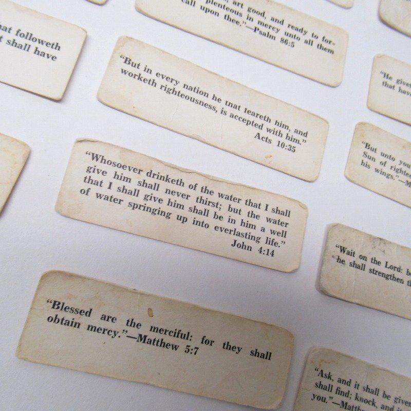 紙モノ 1940~60年代 聖書の言葉 タグ20枚セット C【画像6】