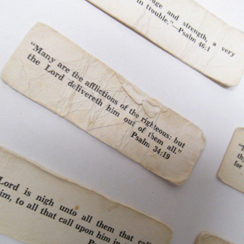 紙モノ 1940~60年代 聖書の言葉 タグ20枚セット C【画像7】