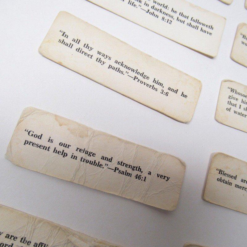 紙モノ 1940~60年代 聖書の言葉 タグ20枚セット C【画像8】