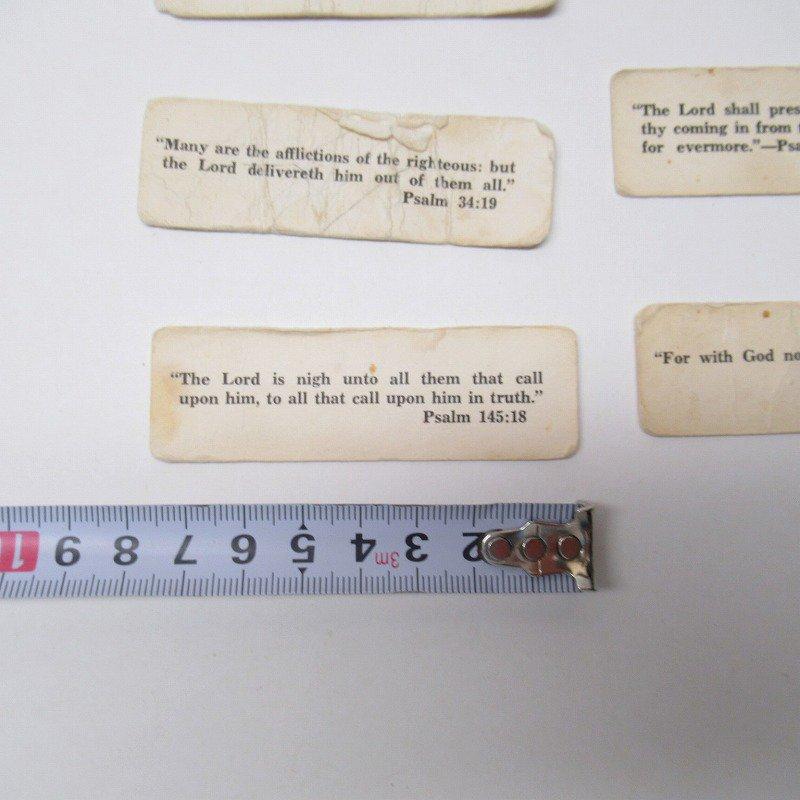 紙モノ 1940~60年代 聖書の言葉 タグ20枚セット C【画像9】