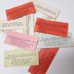 チケット、スコアパッドなどの紙物・紙モノ雑貨  紙モノ 1940~60年代 聖書の言葉 カラータグ入り12枚セット A