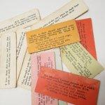 チケット、スコアパッドなどの紙物・紙モノ雑貨  紙モノ 1940~60年代 聖書の言葉 カラータグ入り12枚セット B