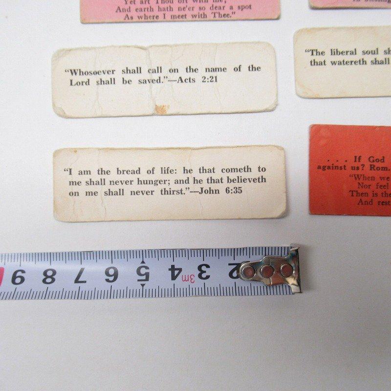 紙モノ 1940~60年代 聖書の言葉 カラータグ入り12枚セット C【画像7】
