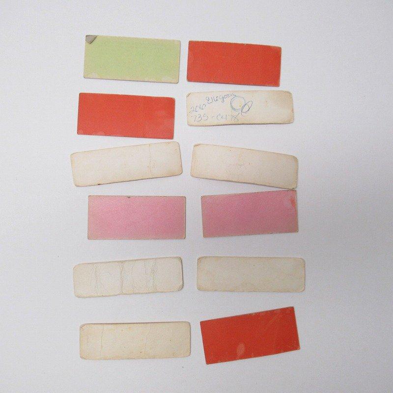 紙モノ 1940~60年代 聖書の言葉 カラータグ入り12枚セット C【画像8】