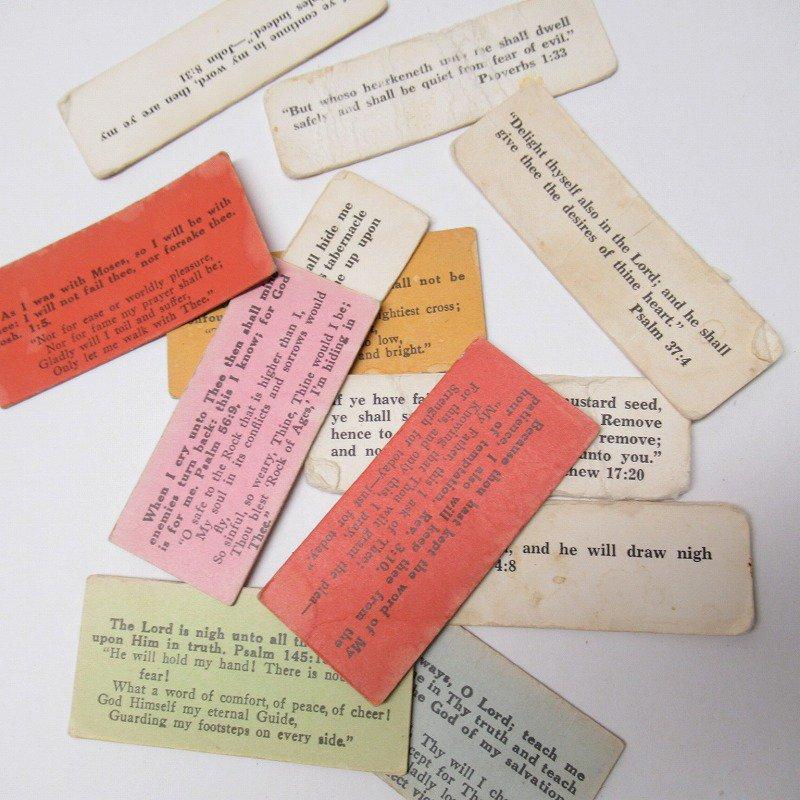 紙モノ 1940~60年代 聖書の言葉 カラータグ入り12枚セット D
