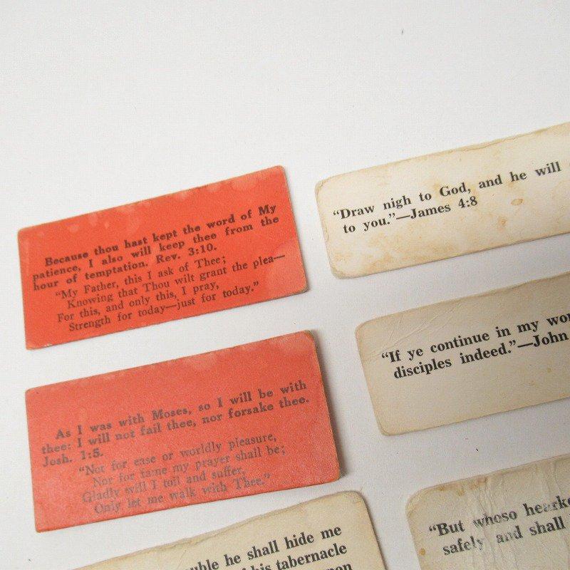 紙モノ 1940~60年代 聖書の言葉 カラータグ入り12枚セット D【画像5】