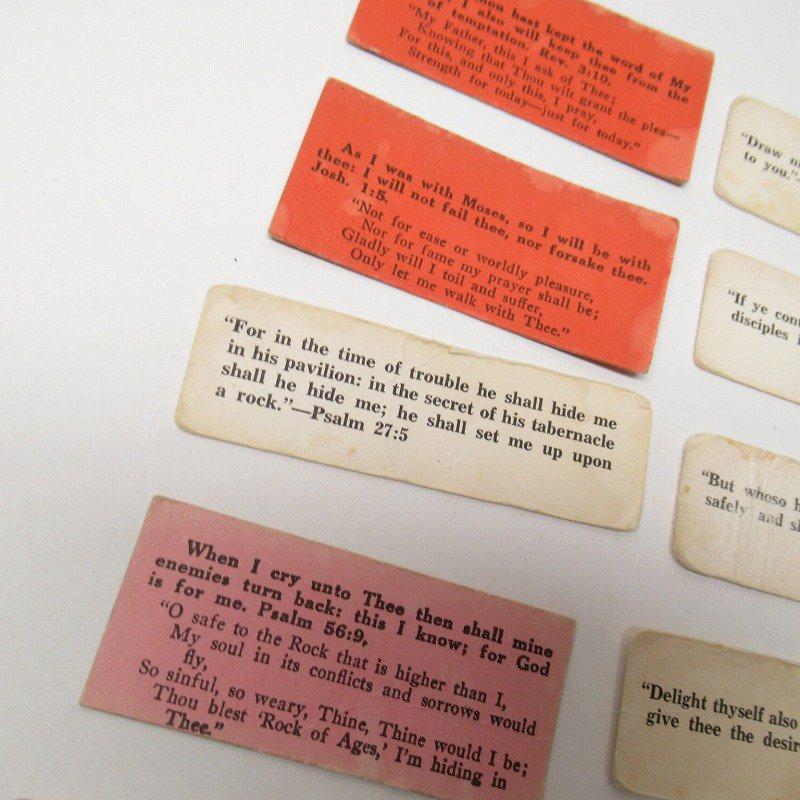 紙モノ 1940~60年代 聖書の言葉 カラータグ入り12枚セット D【画像6】