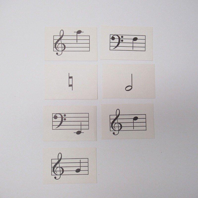 紙モノ 1950~60年代 ミュージックカード 7枚セット A【画像2】