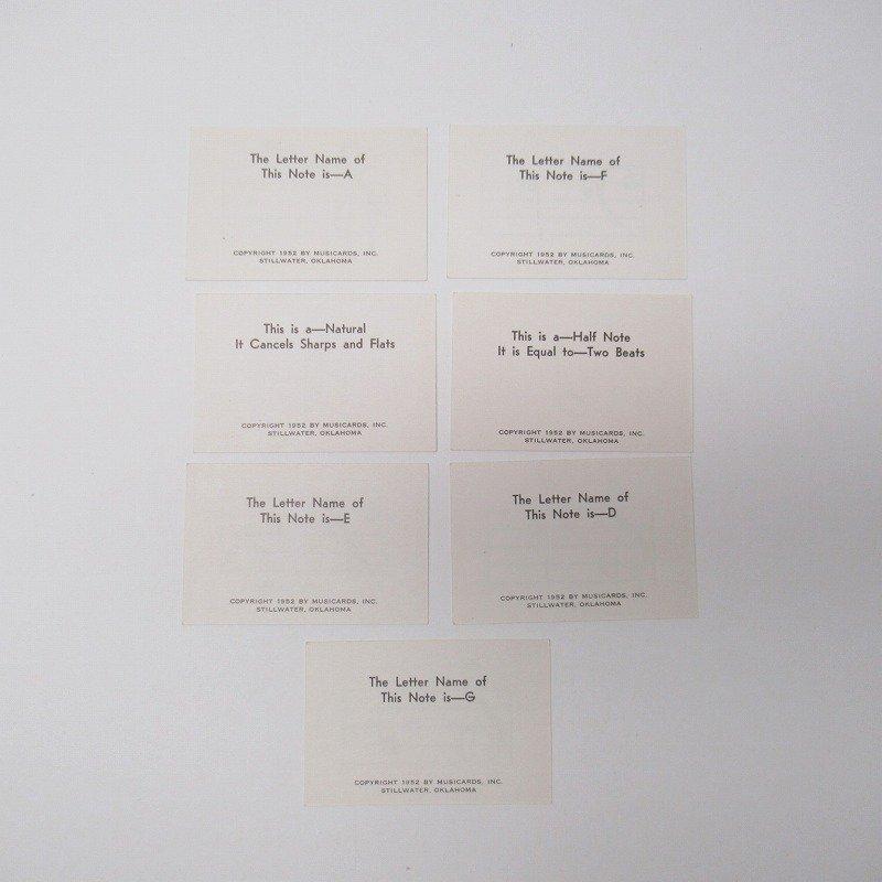 紙モノ 1950~60年代 ミュージックカード 7枚セット A【画像3】