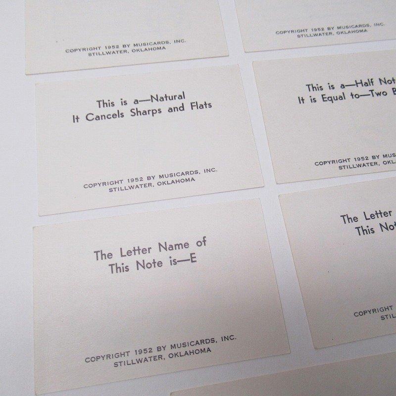 紙モノ 1950~60年代 ミュージックカード 7枚セット A【画像4】
