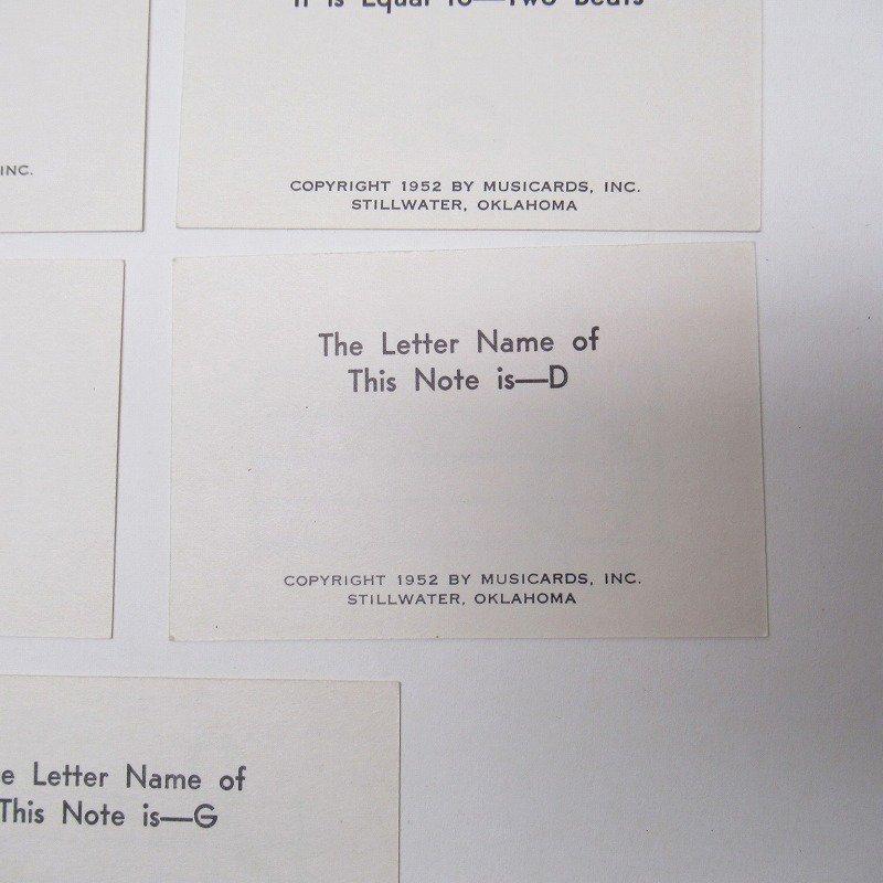 紙モノ 1950~60年代 ミュージックカード 7枚セット A【画像5】