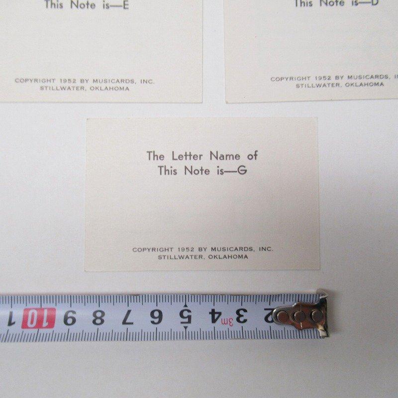 紙モノ 1950~60年代 ミュージックカード 7枚セット A【画像6】