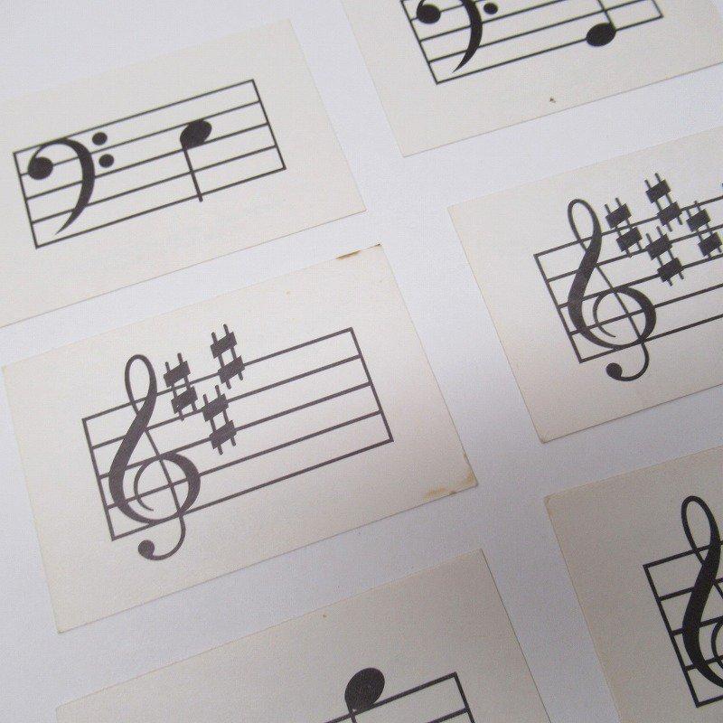 紙モノ 1950~60年代 ミュージックカード 17枚セット B【画像4】