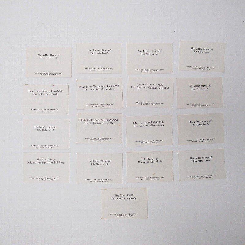 紙モノ 1950~60年代 ミュージックカード 17枚セット B【画像7】