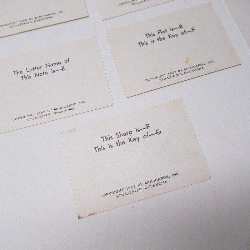 紙モノ 1950~60年代 ミュージックカード 17枚セット B【画像8】