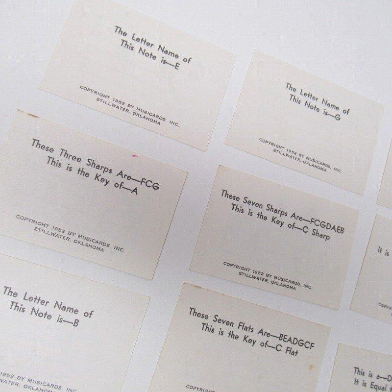 紙モノ 1950~60年代 ミュージックカード 17枚セット B【画像10】