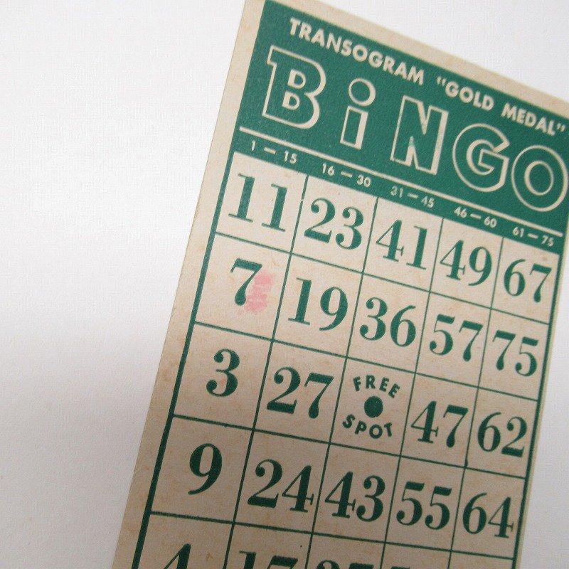 紙モノ 1950~60年代 ビンゴシート緑セット【画像8】