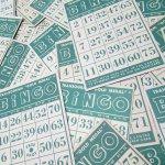チケット、スコアパッドなどの紙物・紙モノ雑貨  紙モノ 1950~60年代 ビンゴシート緑セット